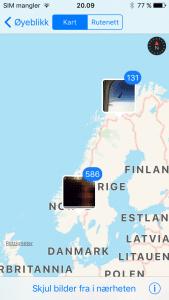 Kartvisningen i Bilder-appen