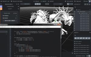 Redigeringsverktøyet i spillmotoren Goo Create