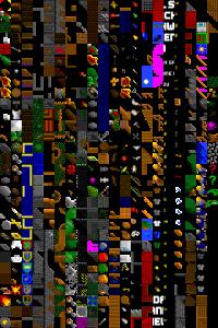 Et tilemap til bruk som tekstur i et 2D-spill