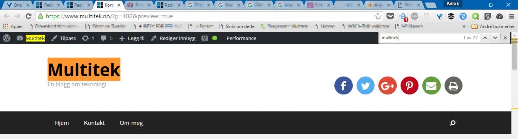 Søk på side i Google Chrome