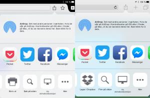 Søk på side i Firefox og Safari på iOS