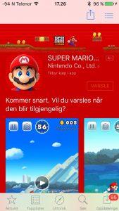 Mario på App Store