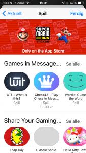Det finnes til og med spill