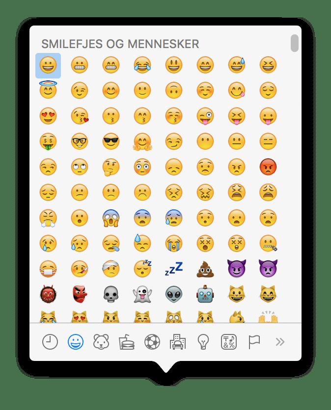 Emoji-menyen