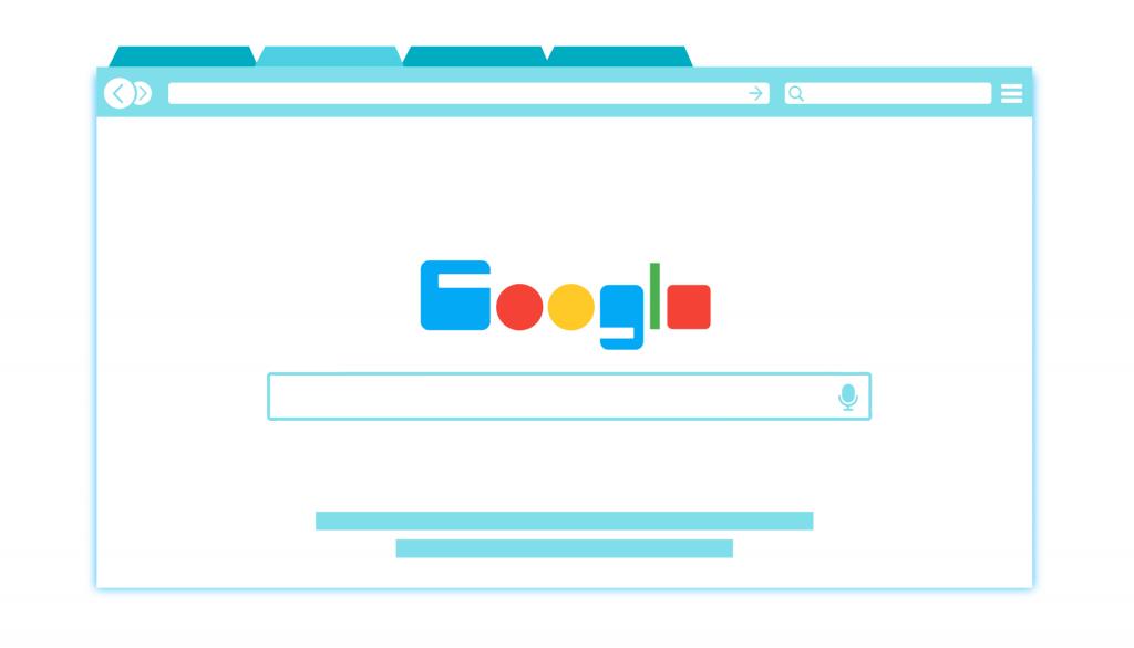 Nettleservindu med Google åpent