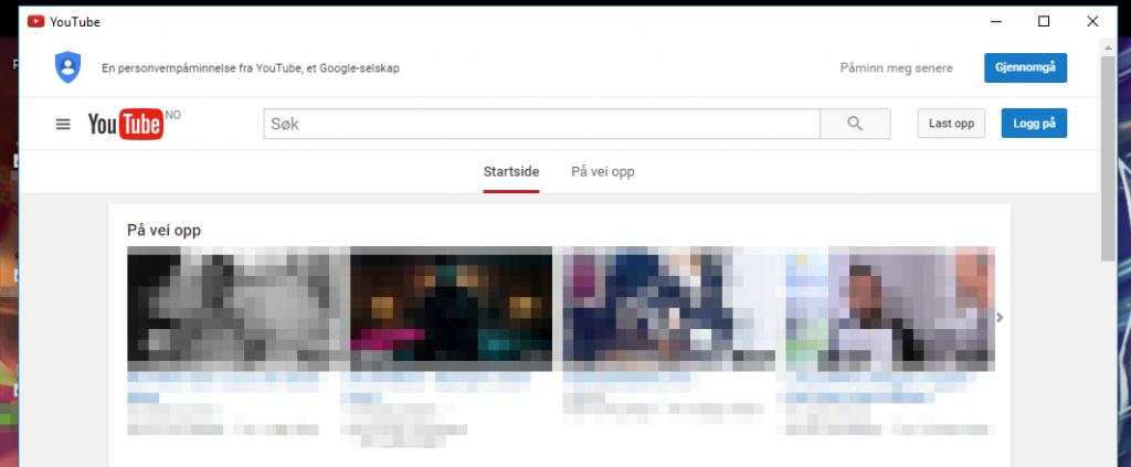 Nå har appen din sitt eget programvindu. Si farvel til nettleseren for en liten stund!