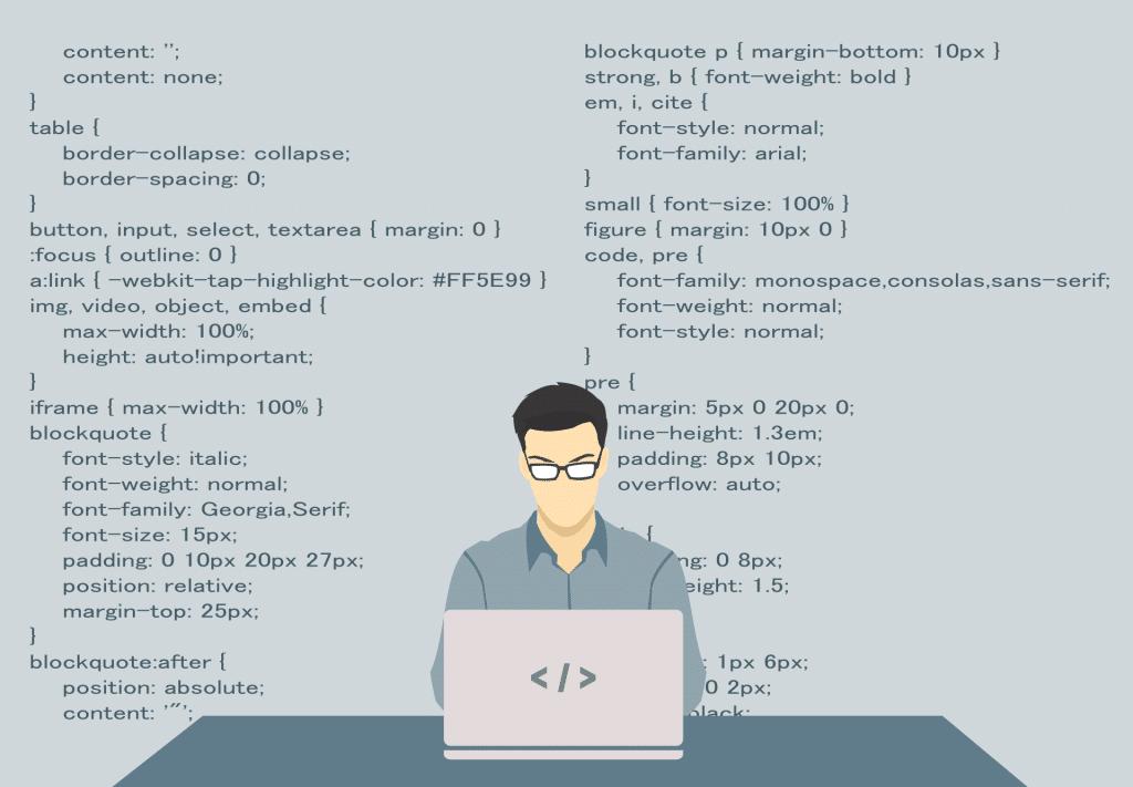 CSS-regler er gruppert etter element
