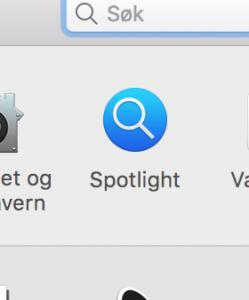 Systemvalg-ikonet for Spotlight