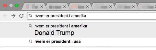 Presidenten i Amerika, rett fra adresselinja