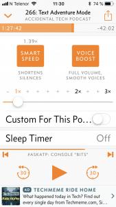 Innstillinger for Smart Speed og Voice Boost