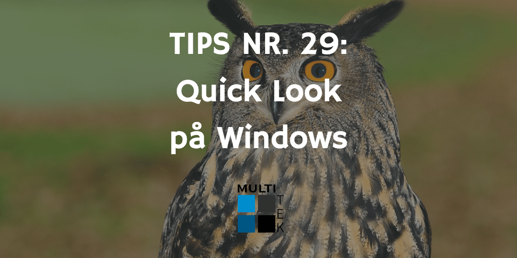 Tips nr. 29: Quick Look på Windows